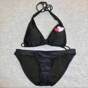 Black Bikini with Hearts - Small